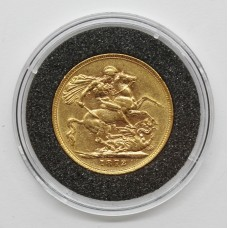 1872 Victoria 22ct Gold Full Sovereign Coin