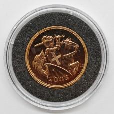 2005 Elizabeth II 22ct Gold Full Sovereign Coin