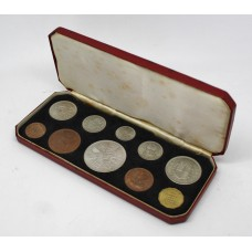 1953 Elizabeth II Coronation Issue Coin Set