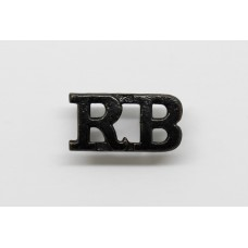 Rifle Brigade (R.B.) Shoulder Title