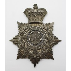 Victorian 4th Administrative Bn. West Riding Volunteer Corps Officer's Helmet Plate